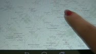 Stock Video Footage of map on digital tablet