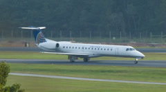 United Express Airlines Aircraft at Asheville Regional Airport Stock Footage