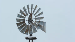 Winter windmill in rural Ontario. Closeup. Stock Footage