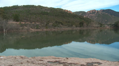 Massif de L'Esterel Lake Ecureuil Stock Footage