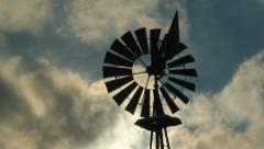 Windmill. Wind changing direction. Stock Footage