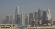 Stock Video Footage of Ultra HD 4K Crowded Busy City Dubai Marina Skyline Almas Towers Skyscrapers