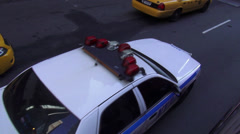 NYPD Police Car - stock footage