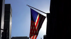US Flag in the sunlight - stock footage