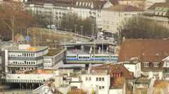 Panorama of detail Zurich Stock Footage