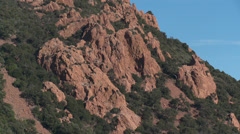 Massif de L'Esterel Mountainside Outcrops Stock Footage