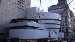 The Solomon Guggenheim Museum New York Stock Footage
