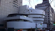 Stock Video Footage of The Solomon Guggenheim Museum New York