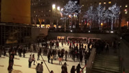 Stock Video Footage of Ice Rink at Rockefeller Center