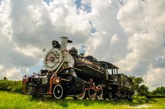cuban trains - stock photo