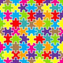 Stock Illustration of abstract puzzle background with colorful pieces