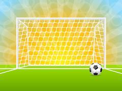 Soccer ball and gate Stock Illustration