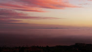 Stock Video Footage of Sunset Afterglow and Coastal Fog Time Lapse