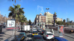 Barcelona street traffic  Stock Footage
