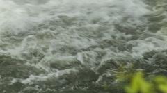 Close-up Waterfall Splashing into Pool in Blue Ridge Mountains, NC Stock Footage