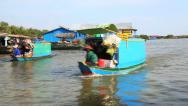 Stock Video Footage of Floating market in tonle sap, siem reap, cambodia