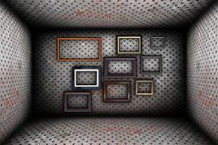 abstract industrial backdrop with frames - stock photo