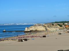 one of the most beautiful beaches in europe - praia da rocha on the algarve i - stock photo