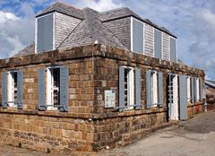 Historic guard house on shirley heights, english harbour, antigua and barbuda Stock Photos