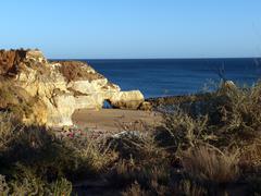 Picturesque beaches of the algarve Stock Photos