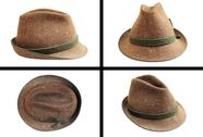 Stock Photo of traditional wool hunting hat in four views