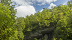 Tilting From Blue Sky to Looking Glass Falls, NC Stock Footage