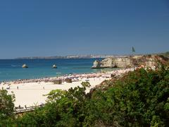 portimao-resort on the atlantic coast of the algarve, portugal - stock photo