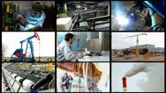 Stock Video Footage of Industry split screen