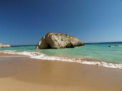 The idyllic praia de rocha beach Stock Photos