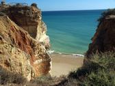 Stock Photo of colorful rock cliffs of the algarve in portugal