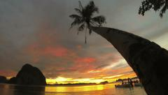 Philippines peer sunset time lapse 4k - stock footage