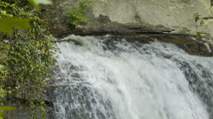 Top of Looking Glass Falls, Blue Ridge Mountains, NC Stock Footage