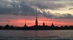 St. Petersburg, North Venice, Neva River Stock Footage