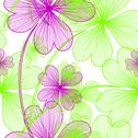 Stock Illustration of elegant seamless pattern with decorative four leaf clovers, design element