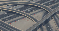 Ultra HD 4K Busy Freeway Intersection Dubai Modern Transportation Rush Hour Cars - stock footage