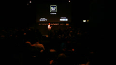 Conference about 4K at BVE Stock Footage