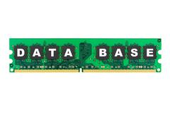 Word Database on computer memory Stock Photos