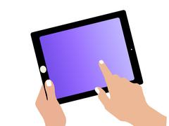 Drawing tablet Stock Illustration
