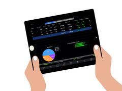 drawing tablet - stock illustration