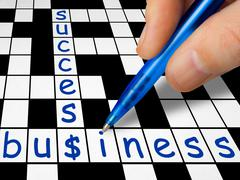 Crossword - business and success Stock Photos