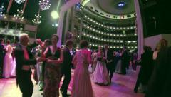 Time-lapse , dancing people at the Viennese opera ball Stock Footage