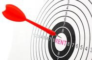 Stock Photo of rent target