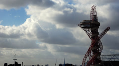 London Olympic Stadium Tower Stock Footage