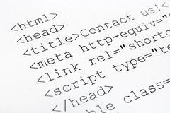 Printed internet html code - stock photo