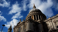 Saint Paul´s Cathedral Dome Timelapse Stock Footage