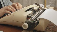 Typewriter angled view 1 Stock Footage