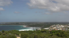 Pan from Rotary Lookout great ocean drive Esperance australia Stock Footage