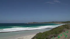 Pan from West Beach Great Ocean Drive, Esperance, Western Australia Stock Footage