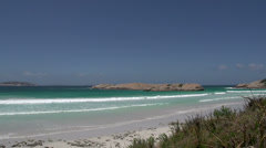 Twilight Beach in Great Ocean Drive, Esperance, Western Australia Stock Footage