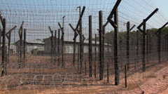 Prison. Guard against the escape of prisoners. Stock Footage